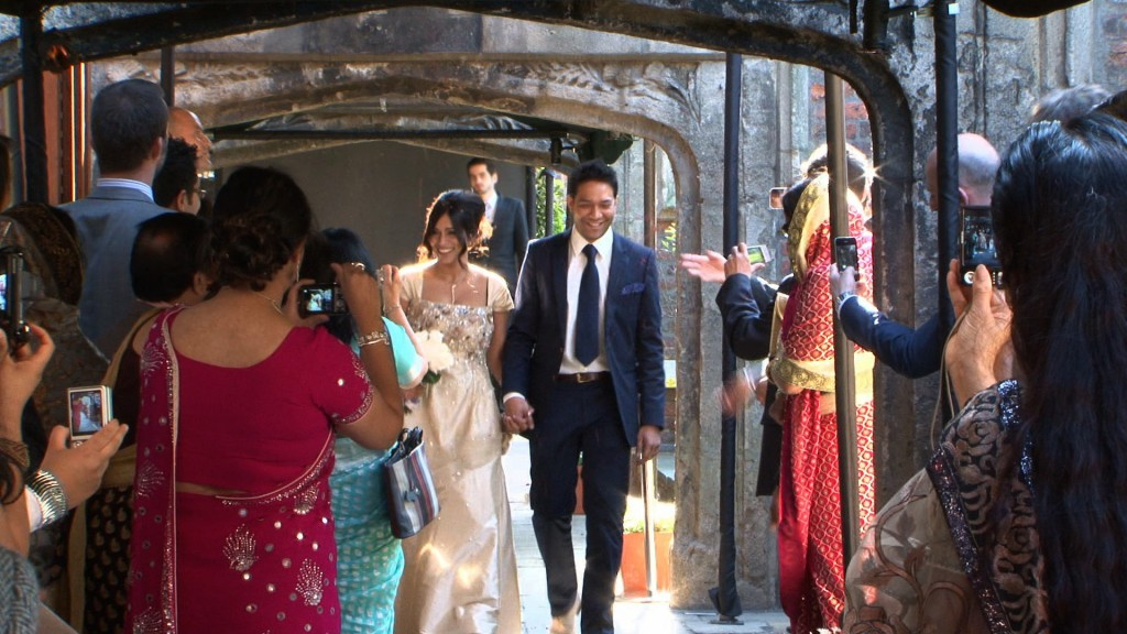 civil wedding videography at kensington Roof Gardens